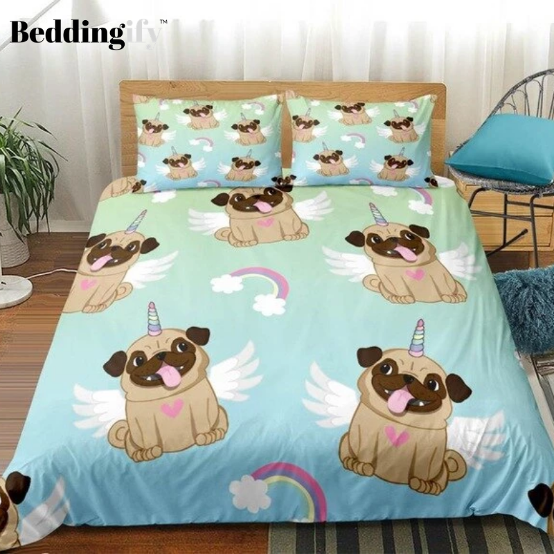 Rainbow Pug Bedding Set - Beddingify