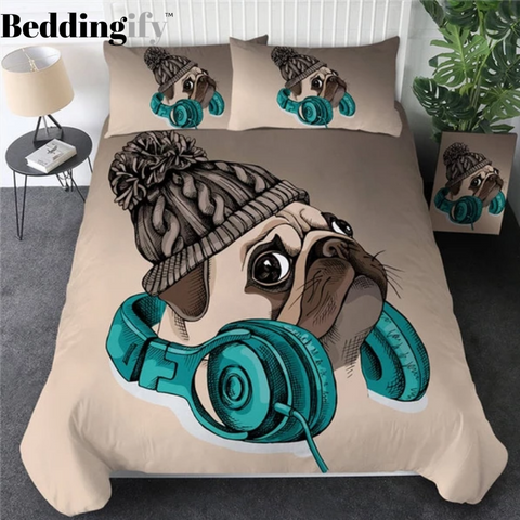 Image of Musical Pug Bedding Set - Beddingify