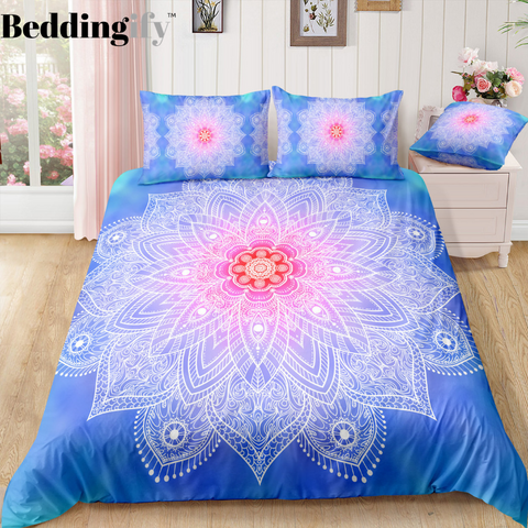 Blue Mandala Pattern Bedding Set - Beddingify