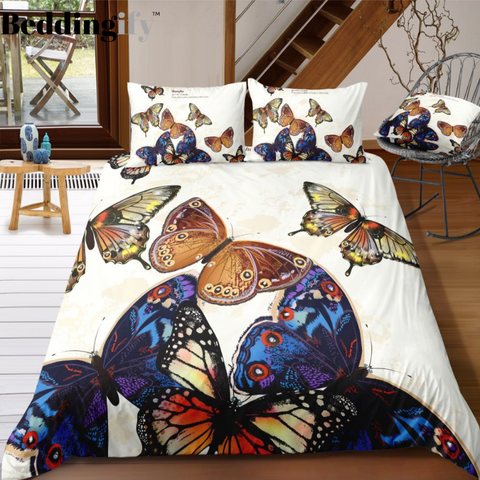 Image of Beautiful Butterflies Bedding Set - Beddingify