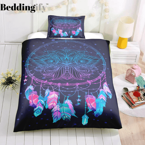Image of Purple Dreamcatcher Bedding Set - Beddingify