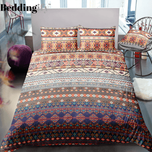 Indian inspired - Native American Aztec Bedding Set - Beddingify