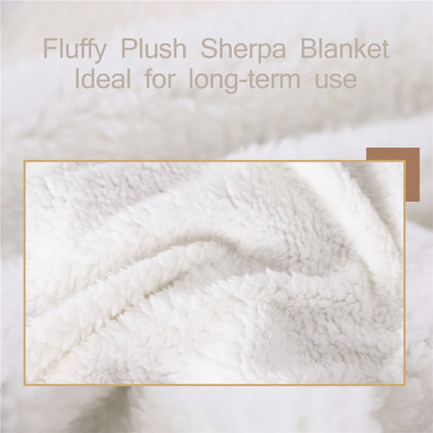 Ancient Egyptian Motif Sherpa Fleece Blanket - Beddingify