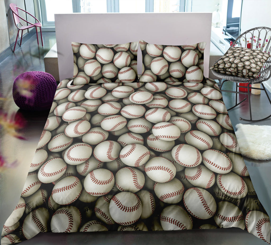 Baseballs Bedding Set - Beddingify