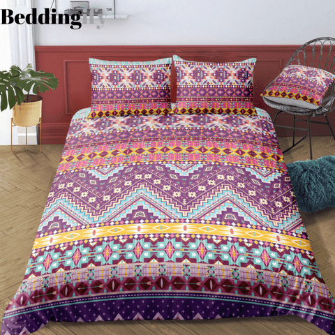 Indian inspired - Navajo Aztec Bedding Set - Beddingify