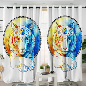 Contrast Tiger 2 Panel Curtains