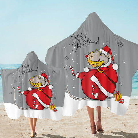 Image of Santa Mouse SW2524 Hooded Towel