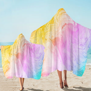 Pastel Sandy Beach SW2533 Hooded Towel