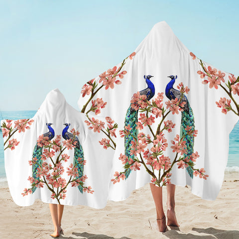Image of Peacock Spring Love SW2073 Hooded Towel