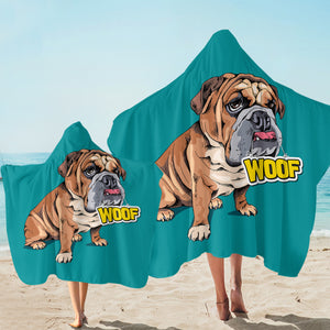 Woof Pug SW2514 Hooded Towel
