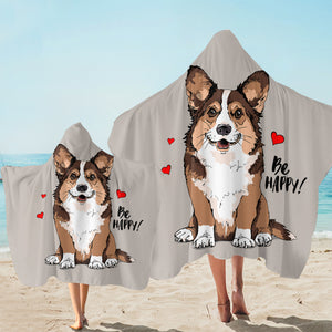 Be Happy Corgi SW2520 Hooded Towel