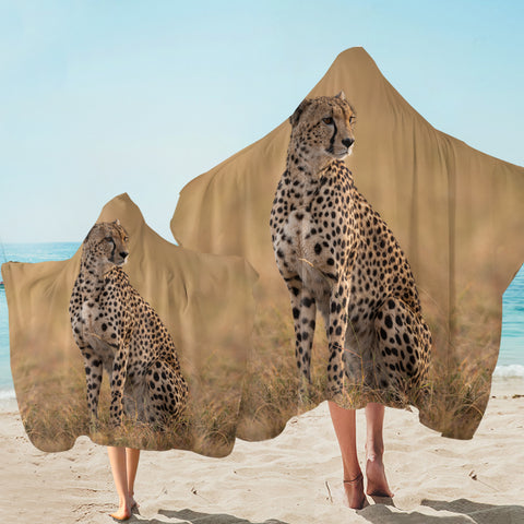 3D Cheetah SW2515 Hooded Towel