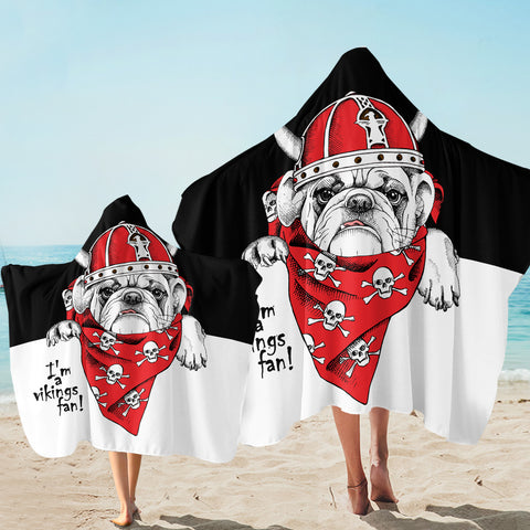 Viking Pug SW2528 Hooded Towel