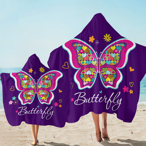 Image of Beautiful Butterfly SW2487 Hooded Towel