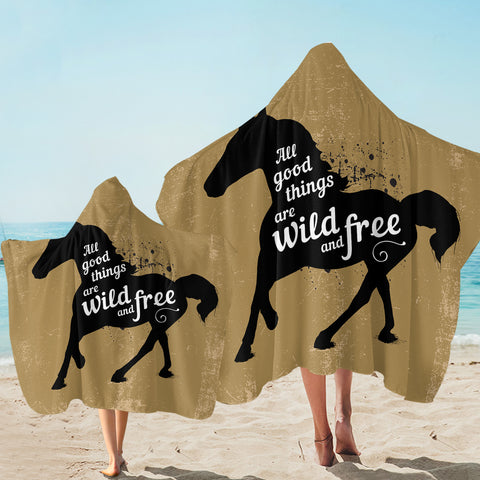 Wild & Free Horse SW2532 Hooded Towel
