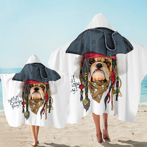 Pirate Pug SW2505 Hooded Towel
