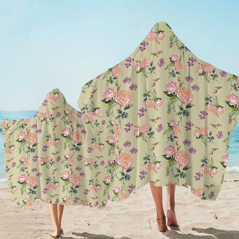 Image of Minty Roses SW2244 Hooded Towel