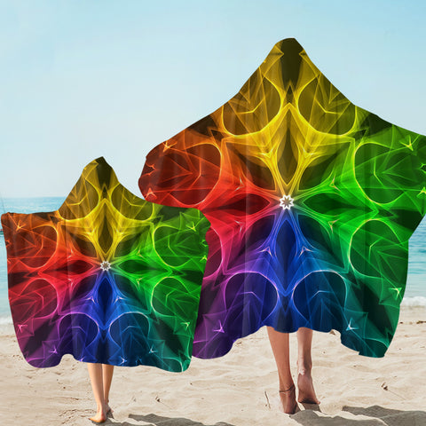 Image of Colorful Leaves SW2523 Hooded Towel