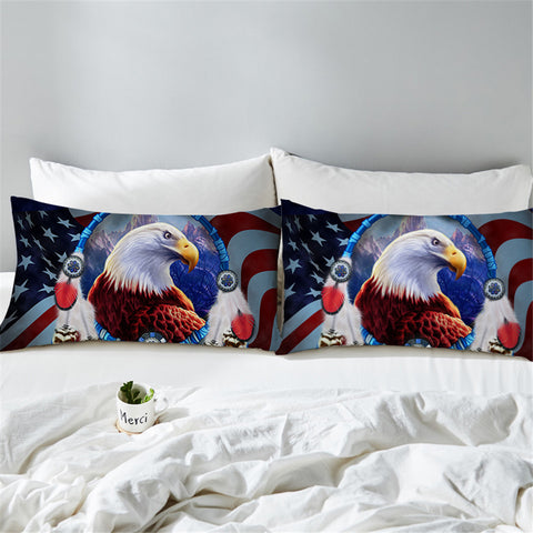 3D Bald Eagle America Pillowcase