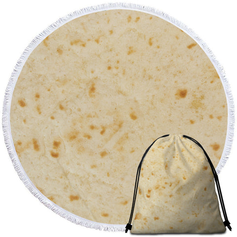 Image of Rice Cracker Round Beach Towel Set - Beddingify