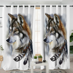 Feather Wolf SWCG2697 2 Panel Curtains