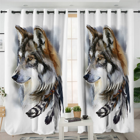 Image of Feather Wolf SWCG2697 2 Panel Curtains