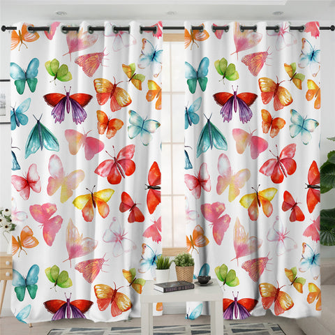Brilliant Butterflies 2 Panel Curtains