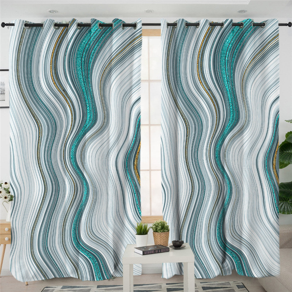Marble 2 Panel Curtains