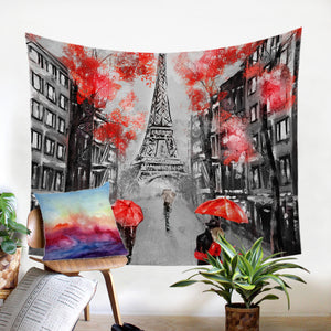 Rainy Paris SW1389 Tapestry