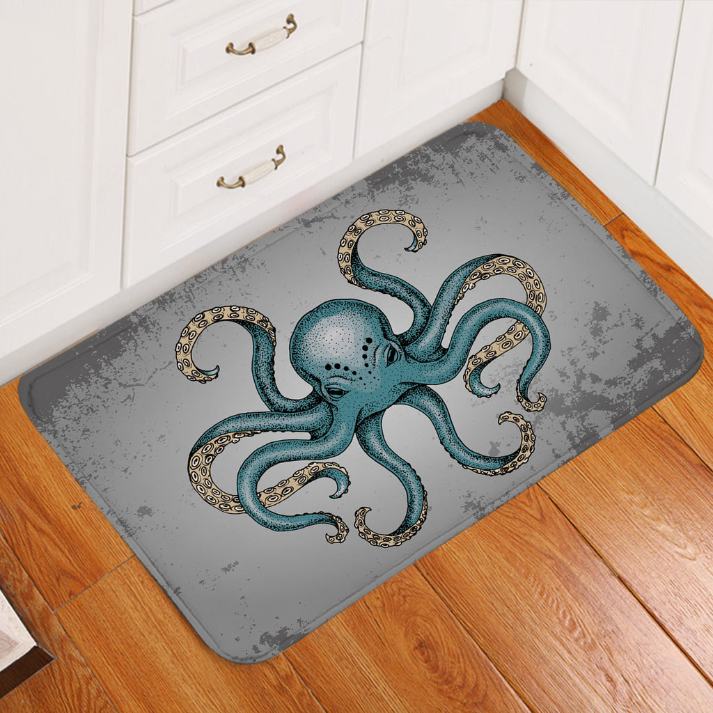 Gray Octopus Door Mat