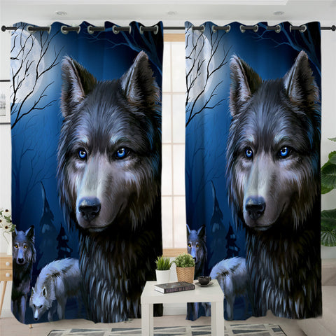 Image of 3D Werewolf 2 Panel Curtains