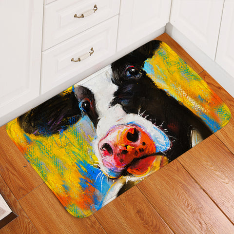 Image of Cow Mugshot Door Mat