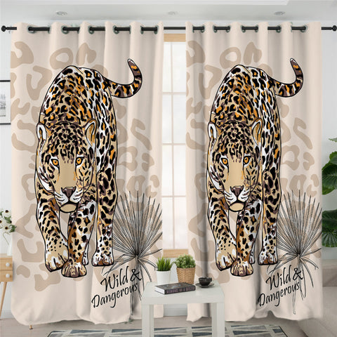 3D Tiger 2 Panel Curtains