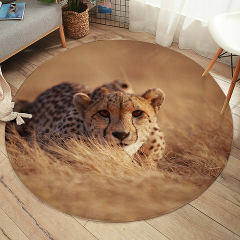 Image of 3D Cheetah SW2496 Round Rug