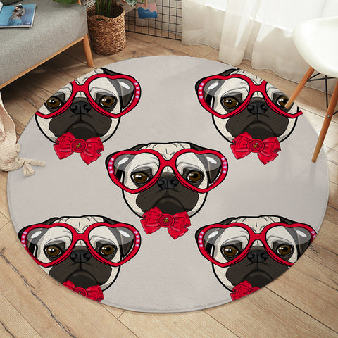 Image of Ms Pug SW2516 Round Rug