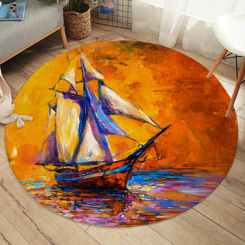 Image of Sailing Ship SW2229 Round Rug