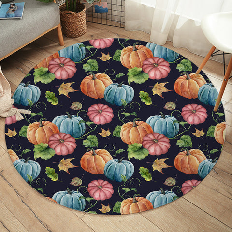 Colorful Pumpkins SW2176 Round Rug