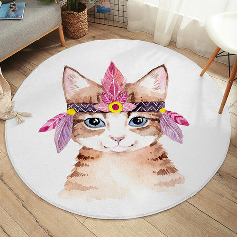 Tribal Cat SW2419 Round Rug