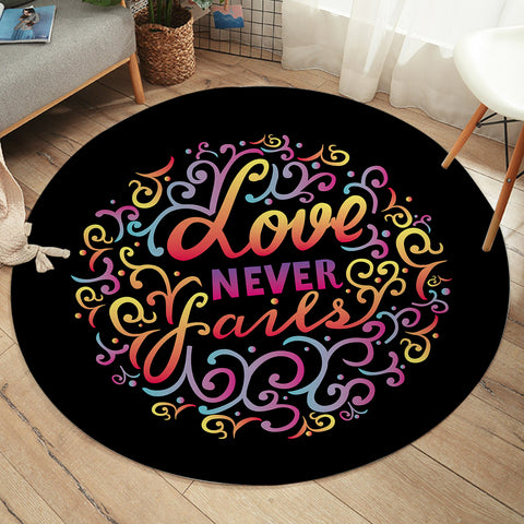 Love Never Fails SW2486 Round Rug