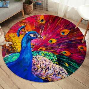 Painted Peacock SW2236 Round Rug