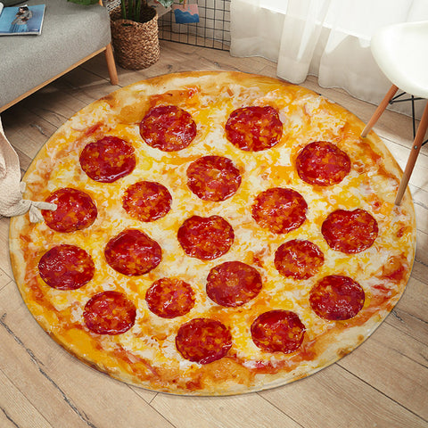 Image of Ham Pizza SW2179 Round Rug