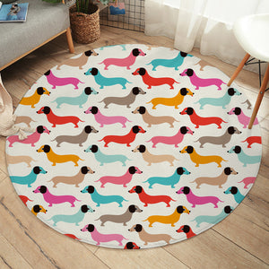 Colorful Dachshunds SW2226 Round Rug