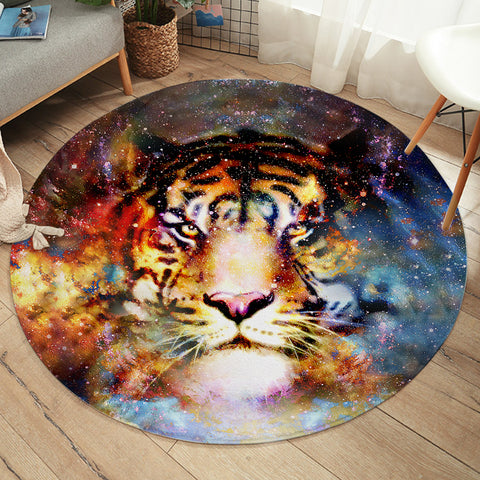Image of Space Tiger SW2069 Round Rug