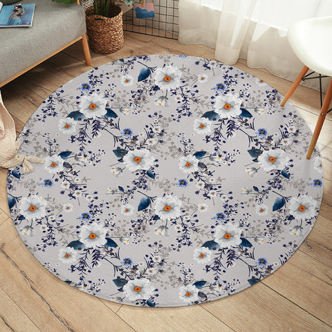 Flower Wallpaper SW2166 Round Rug