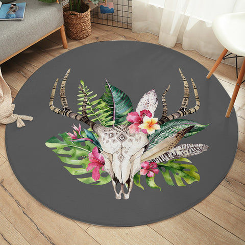 Image of Trophy Head SW2076 Round Rug