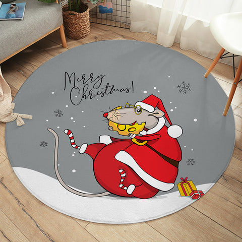 Image of Christmas Mouse SW2524 Round Rug