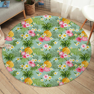 Pineapple & Flower SW2316 Round Rug