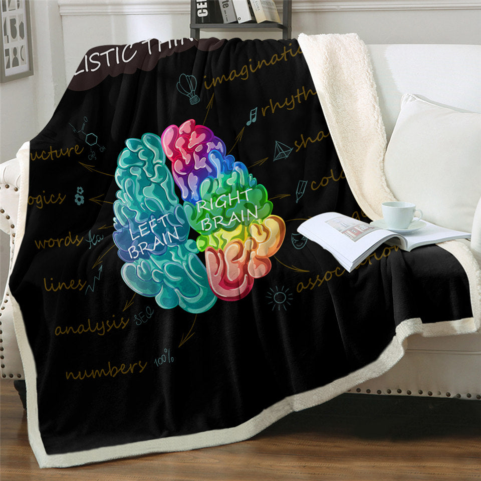 Holistic Thinking Sherpa Fleece Blanket