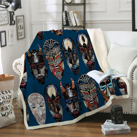 African Ghost Themed Sherpa Fleece Blanket - Beddingify