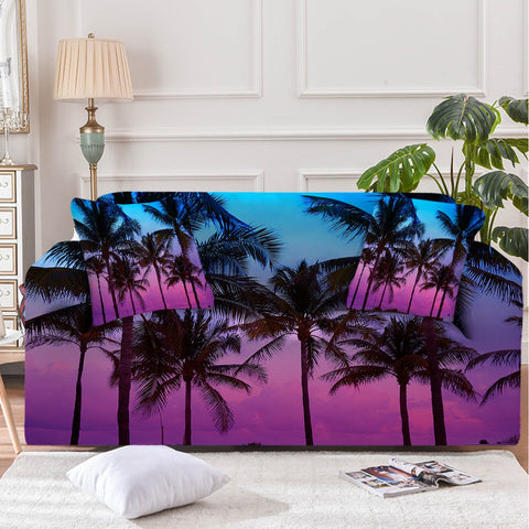 Image of Tropical Skies Sofa Cover - Beddingify